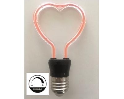Filament 4W Kırmızı Kalp Modelli Led Ampul