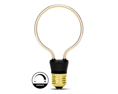 Filament 4W Led Ampul 0 Ring Mavi