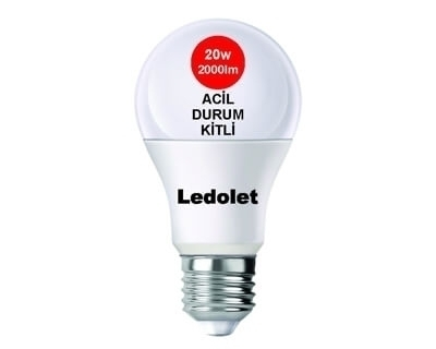 LEDOLET 20W ACİL DURUM AYDINLATMALI LED AMPUL BEYAZ